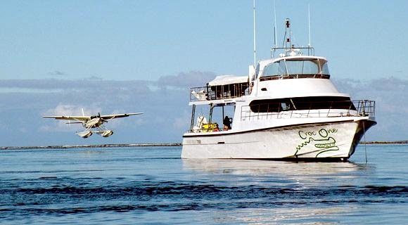 """Float plane landing at """"Croc One"""" on the morning of his death."""