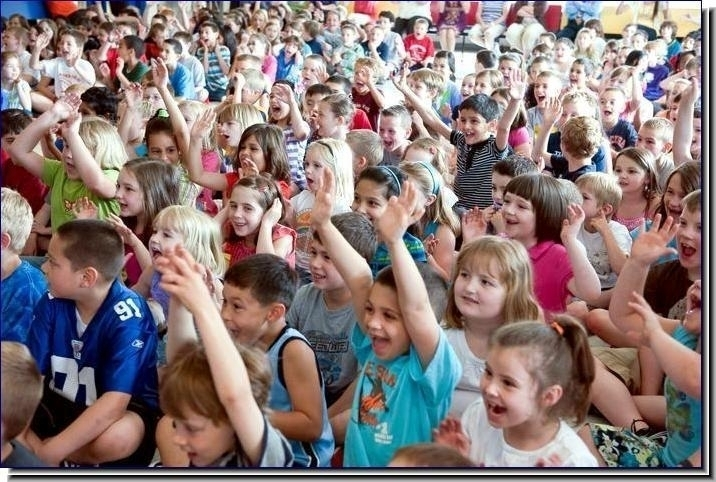 Elementary school assembly highlight in Dayton, OH