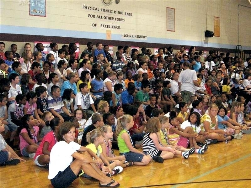 Middle School assembly highlight in Pittsburgh, PA
