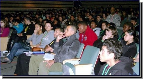 High school assembly highlight in Cuyahoga Falls, OH