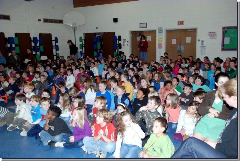 Elementary school assembly highlight in Alpena, MI