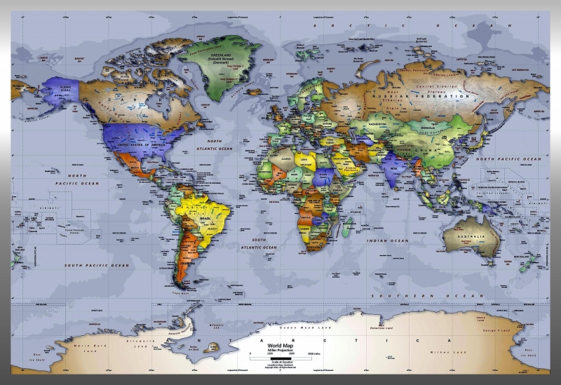 Student hand-outs during a typical program session:  WORLD MAP