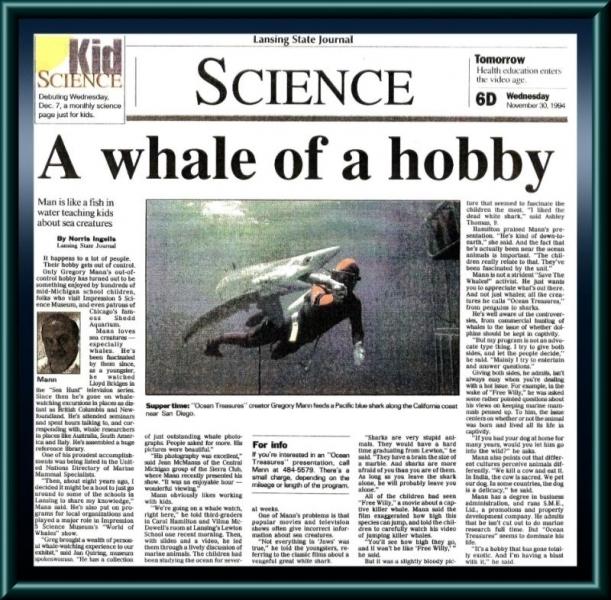 Lansing State Journal article from Lansing, MI