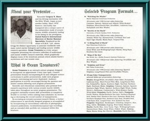 Original program brochure (inside)