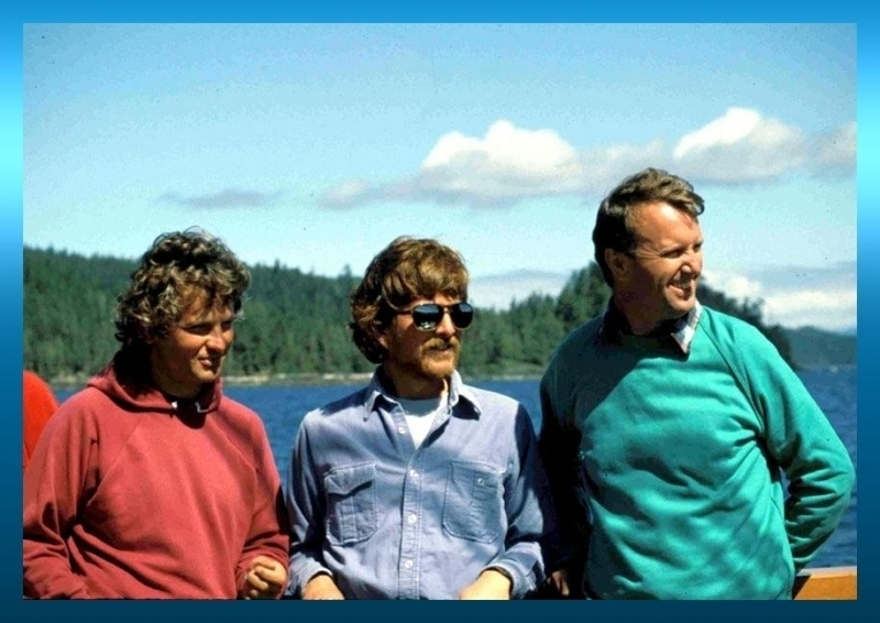 """The """"Canadian Big Three"""" of Killer Whale Research, Drs. Graeme Ellis, John Ford and Mike Bigg"""